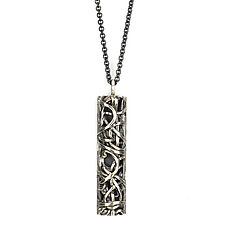 Tangle Bar Pendant by Janet Blake (Gold or Silver Necklace)