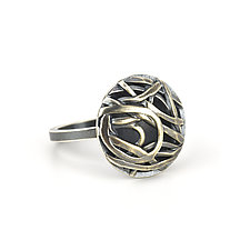 Tangle Mini Dome Ring by Janet Blake (Gold or Silver Ring)