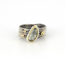 Sapphire Tendril Ring by Janet Blake (Gold, Silver & Stone Ring)