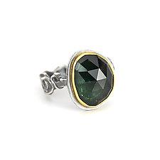 Green Tourmaline Tangle Ring by Janet Blake (Gold, Silver & Stone Ring)