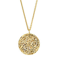 Tangle Eclipse Necklace by Janet Blake (Gold Necklace)