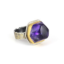 Amethyst Reef Ring by Janet Blake (Gold, Silver & Stone Ring)