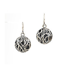 Tangle Dome Earrings by Janet Blake (Gold or Silver Earrings)