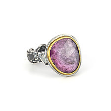 Fuchsia Tourmaline Tangle Ring by Janet Blake (Gold, Silver & Stone Ring)