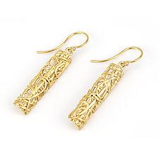 Tangle Bar Earrings by Janet Blake (Gold or Silver Earrings)