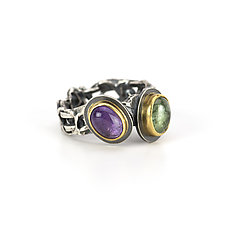 Amethyst and Tourmaline Tangle Ring by Janet Blake (Gold, Silver & Stone Ring)