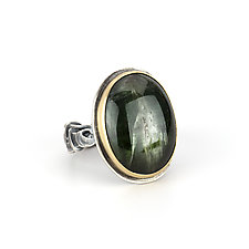Green Tourmaline Tangle Ring by Janet Blake (Gold, Silver & Stone Ring)