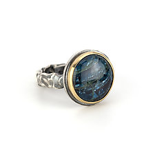 Apatite Tangle Ring by Janet Blake (Gold, Silver & Stone Ring)