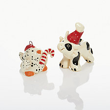 Heifer-Self a Merry Little Chick-Mas by Cindy Pacileo (Ceramic Ornaments)
