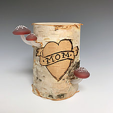 I Heart Mom 1 by Sage Churchill-Foster (Art Glass Sculpture)