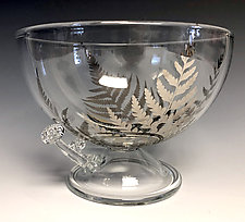 Fern and Mushroom Bowl by Sage Churchill-Foster (Art Glass Bowl)