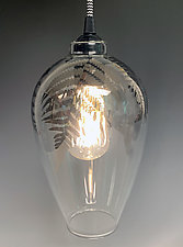 Fern Pendant Lamp by Sage Churchill-Foster (Art Glass Pendant Lamp)