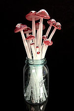 Dozen Longstems in Red by Sage Churchill-Foster (Art Glass Sculpture)