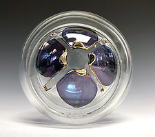 Drops of Violet Puzzle Ball by Sage Churchill-Foster (Art Glass Paperweight)