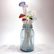 Dozen Longstems in Multi-color by Sage Churchill-Foster (Art Glass Sculpture)
