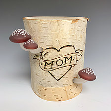 I Heart Mom 2 by Sage Churchill-Foster (Art Glass Sculpture)