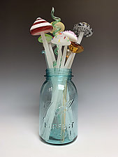 Alice's Bouquet by Sage Churchill-Foster (Art Glass Sculpture)
