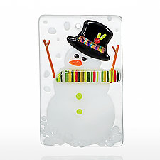 Mr. Snowman by Amy Simpson (Art Glass Ornament)