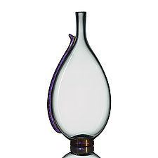 Smoky Serif Flasks by Vetro Vero (Art Glass Vessel)