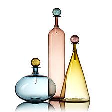 Large Jewel Bottles by Vetro Vero (Art Glass Bottle)