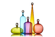 Original Jewel Bottles by Vetro Vero (Art Glass Bottle)