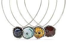 Mini Caldera Pendant by Lisa LeMair (Silver & Stone Necklace)