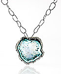 Small Caldera Pendant by Lisa LeMair (Enameled Necklace)