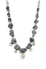 Silver Double Row Ejecta Necklace by Lisa LeMair (Silver Necklace)