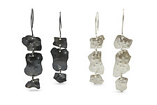 Silver Ejecta Triple Earrings by Lisa LeMair (Silver Earrings)