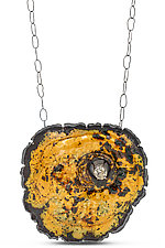 Large Caldera Neckpiece by Lisa LeMair (Enameled Necklace)