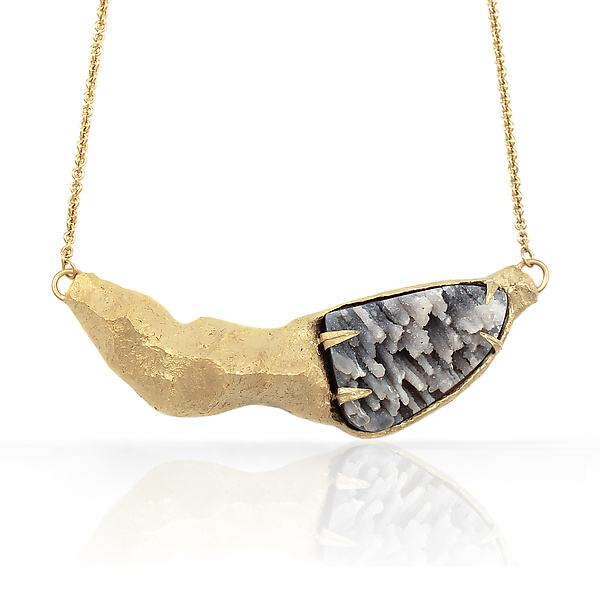 Mountain & Druzy Necklace