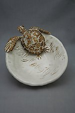 Sea Turtle Bowl by Shayne Greco (Ceramic Bowl)