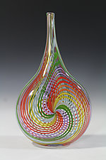 Rainbow Switch Axis by John Gibbons (Art Glass Vase)