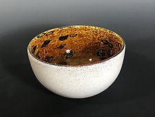 Amber Barnacle Bowl by John Gibbons (Art Glass Bowl)