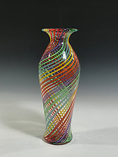 Amphora Rainbow Vase by John Gibbons (Art Glass Vase)