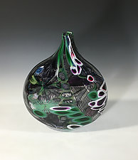 Tide Pool Teardrop by John Gibbons (Art Glass Vase)