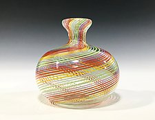 Rainbow Bottle by John Gibbons (Art Glass Vase)