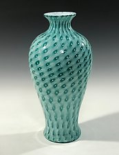 Darkest Lagoon Amphora by John Gibbons (Art Glass Vase)