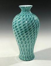 Darkest Lagoon Amphora by John Gibbons (Art Glass Vase)