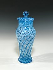 Lidded Urn by John Gibbons (Art Glass Vessel)