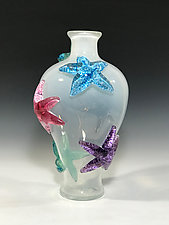 Starfish Amphora II by John Gibbons (Art Glass Vase)