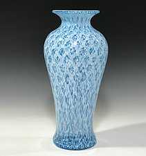 Aqua Amphora by John Gibbons (Art Glass Vase)