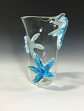 Starfish Vase  by John Gibbons (Art Glass Vase)