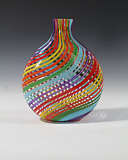 Rainbow Vase by John Gibbons (Art Glass Vase)