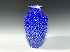 Cobalt Amphora by John Gibbons (Art Glass Vase)