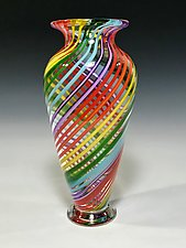 Rainbow Vase III by John Gibbons (Art Glass Vase)