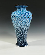Aqua Black by John Gibbons (Art Glass Vase)