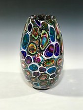 Tide Pool Vessel by John Gibbons (Art Glass Vase)