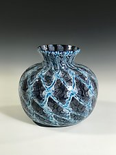 Aqua Tide by John Gibbons (Art Glass Vase)
