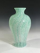 Caribbean Surf by John Gibbons (Art Glass Vase)